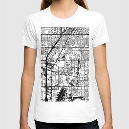 Las Vegas city map T-shirt