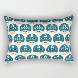 Captian A Emoji Rectangular Pillow