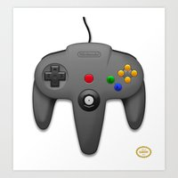 nintendo Art Prints featuring Nintendo 64 by S3NTRYdesigns