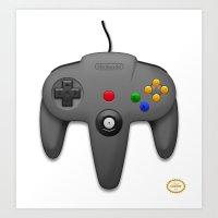 nintendo Art Prints featuring Nintendo 64 by S3NTRYdesigns