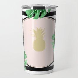 Chic Pineapple & Tropical Leaves Travel Mug
