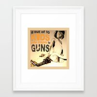 jessica lange Framed Art Prints featuring JESSICA by ARTito