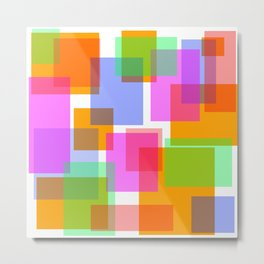 Squares and Rectangles Metal Print