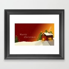 Merry Christmas II Framed Art Print
