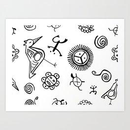 Taino Pattern Art Print