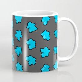 Blue Game Meeples Coffee Mug