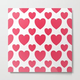 Valentine Hearts Metal Print