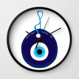 Turkish Blue Eye Bead Wall Clock