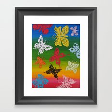 colorful Butterflies (1) Framed Art Print