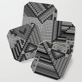 grey knit Coaster