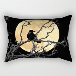 Crow Against Full Moon A366 Rectangular Pillow