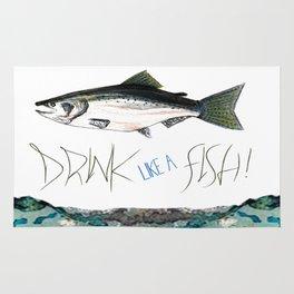 Drink Like A Fish Rug