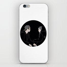 Deep conversations iPhone Skin