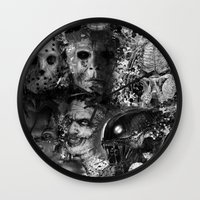 horror Wall Clocks featuring Horror by Sinister Star