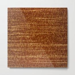 Vector grunge texture in orange colot. Tree bark Metal Print