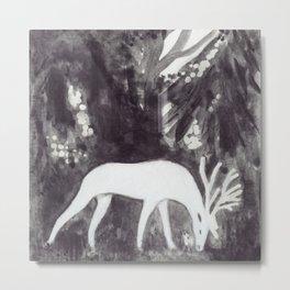 White Deer Metal Print