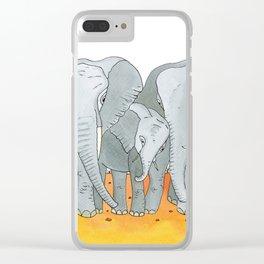 Noah's Ark - Elephant Clear iPhone Case