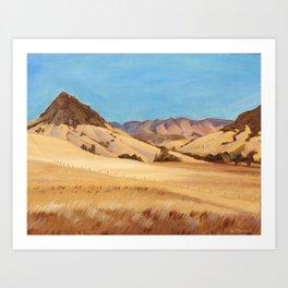 San Luis Obispo Bishop's Peak Plein Air Oil Painting Art Print