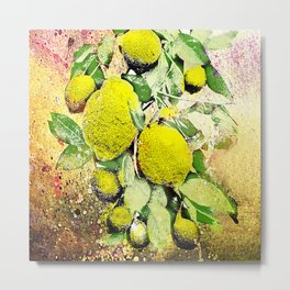 Yellow Explotion Metal Print