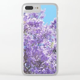 Jacaranda in bloom Clear iPhone Case