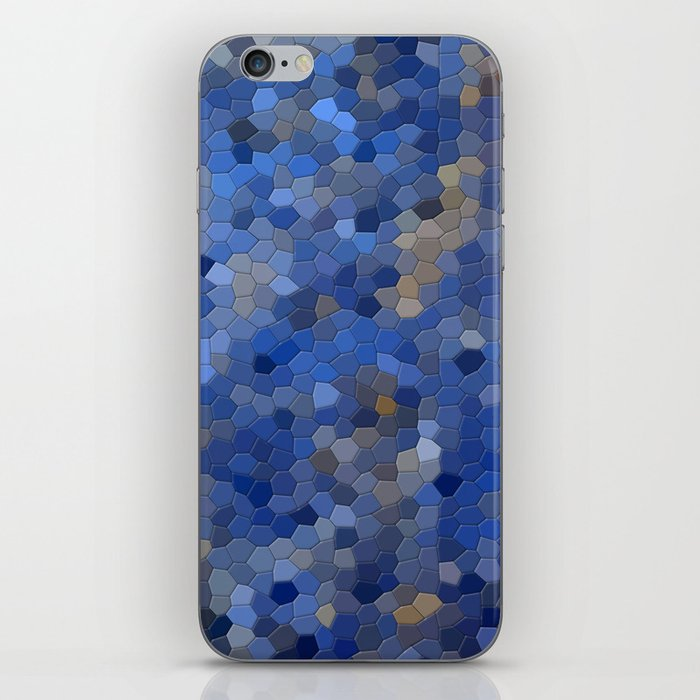 Blue mosaic tile abstract iPhone Skin
