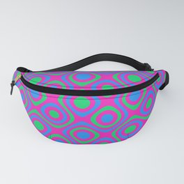 Polysexual Pride Retro Dots, Shapes and Curves Pattern Fanny Pack