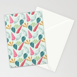 Pastel seashells Stationery Cards