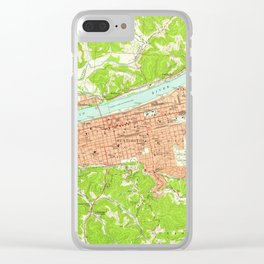 Vintage Map of Huntington West Virginia (1957) Clear iPhone Case