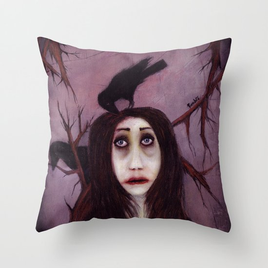 Her eyes...so innocent Throw Pillow