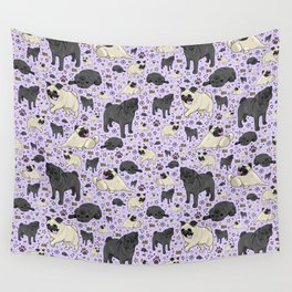 Cute Pugs Wall Tapestry