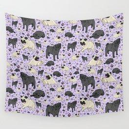 Cute Pugs Wall Tapestry