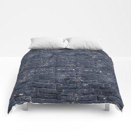Black Brick Wall Comforters