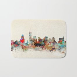 boston city skyline Bath Mat