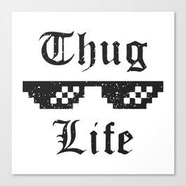 Thug life glasses print Canvas Print