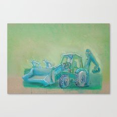 Traktor blue Canvas Print