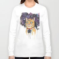 space cat Long Sleeve T-shirts featuring Space Cat by scoobtoobins