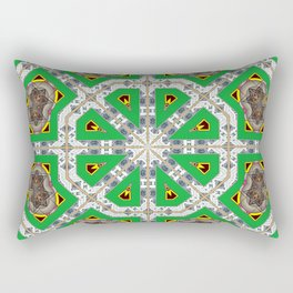 Green Octagons Rectangular Pillow