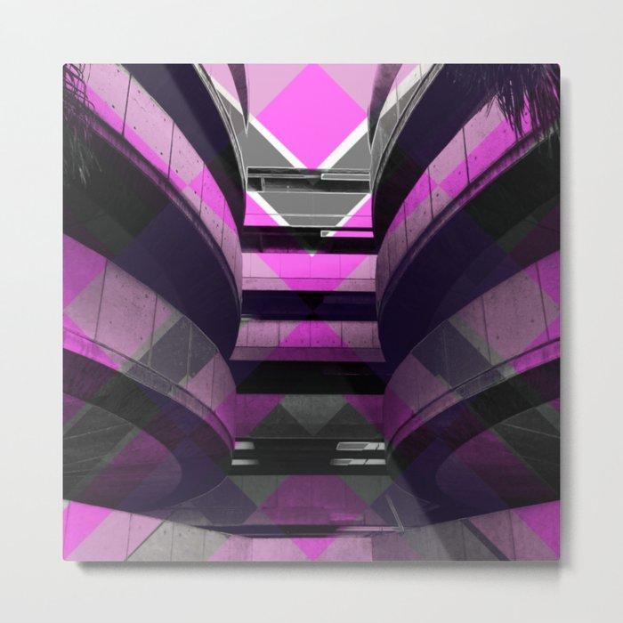 Puzzled Spirals [pink] Metal Print