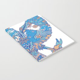 batik culture on garuda silhouette illustration Notebook
