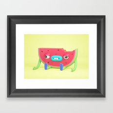 Watermelon dude Framed Art Print
