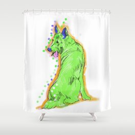 The happy GERMAN SHEPHERD Love of My Life! your GSP dog keeps you smiling! Shower Curtain