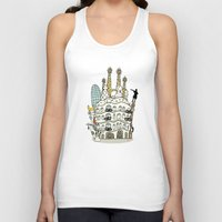 barcelona Tank Tops featuring Barcelona by Jaume Tenes