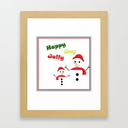 Happy Jolly Joy Framed Art Print