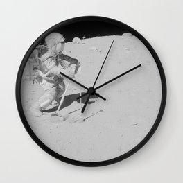 Apollo 16 - Collecting Lunar Samples Wall Clock