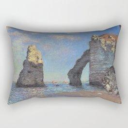 Claude Monet's The Cliffs at Etretat Rectangular Pillow