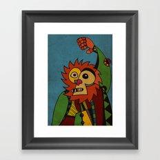 Monkey in Sunday Best Framed Art Print