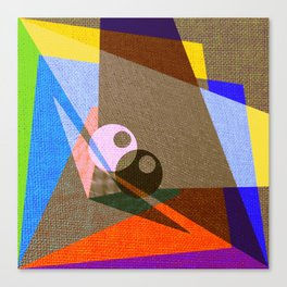 geometric eyes Canvas Print