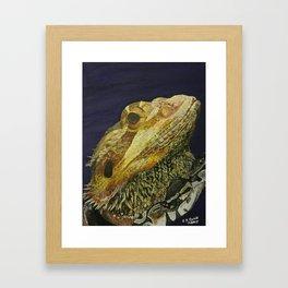 The Dragon & The Snake Framed Art Print