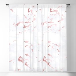 Pink marble pattern Blackout Curtain
