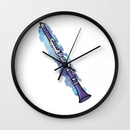 Clarinette Sound Aura Clarinette Player Gift Wall Clock